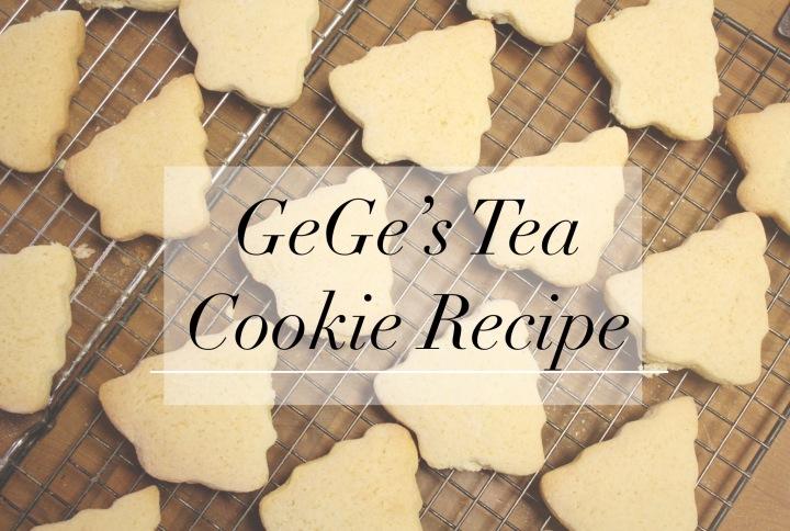 GeGe's Tea CookieRecipe